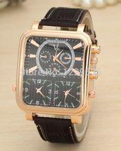 El nuevo reloj de cuarzo, 9 aguja movimiento de moda reloj de los hombres, reloj de pulsera de hombre de negocios y de ocio al aire libre. Tres de tiempo de tiempo.