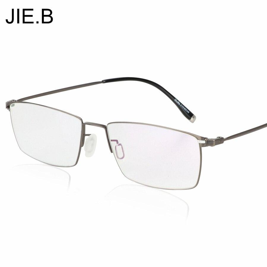 JIE.B nové ultra lehké titanové slitiny brýlí rám pro muže brýle krátkozrakosti rám klasické pánské optické rámečky Oculos De Grau