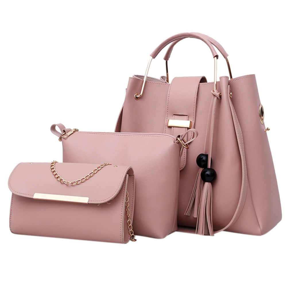 6c3b587f4a3a Detail Feedback Questions about 3Pcs Set Messenger PU Shoulder Bags for Women  2019 Solid Composite Bag Designer Clutch Handbags Bolsa Feminina Totes  Female ...
