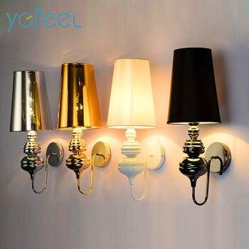 [YGFEEL] Современные Настенные светильники европейские стиль спальня освещение для коридора лампа E27 держатель серебро/золото/черный/белый >> ygfeel Store