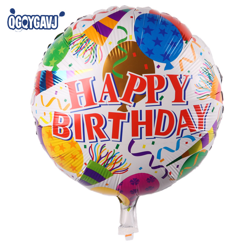 The new 18-inch round Happy Birthday balloons holiday party decoration balloon toys for children wholesale