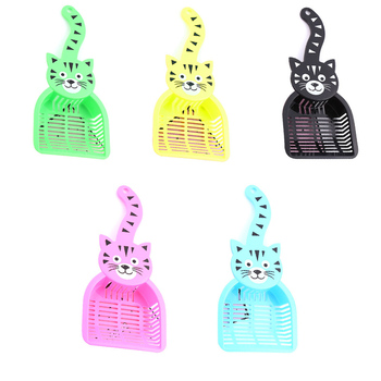 Plastic Cat Pattern Cat Litter Shovel Pet Cleanning Tool Cat Sand Cleaning Products Pet Food Shovel Litter Scoop Food Shove