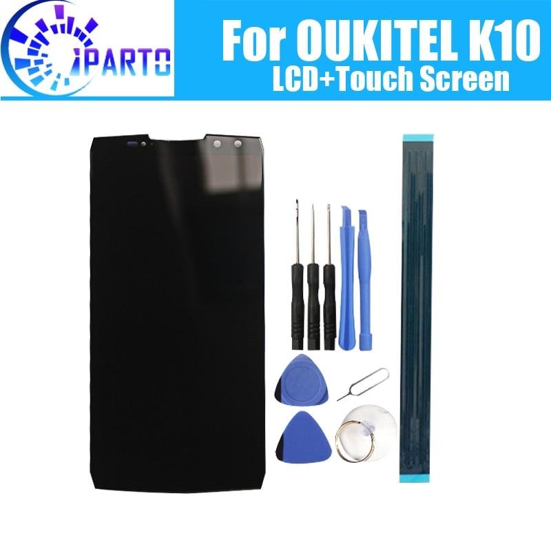 6.0 polegada OUKITEL K10 Display LCD + de Tela de Toque Original de 100% Testado LCD Digitador de Vidro Substituição Do Painel Para OUKITEL K10