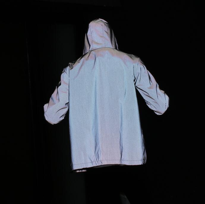 Livraison gratuite Printemps automne hommes 3 m réfléchissant veste coupe-vent à capuche manteau sportwear veste