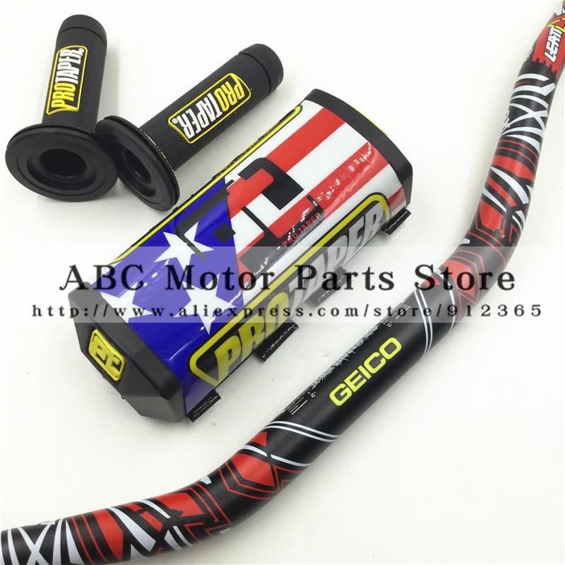 Handlebar Pads Handle Grips Fat Bar 1 1 8 GEICO Pack Dirt Bike Motocross Fat MX