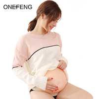 ONEFENG Unisex 6 10 month Simulation Pregnant Silicone Belly Fake Pregnant Belly Hook and Loop Style for Actor or Halloween toys