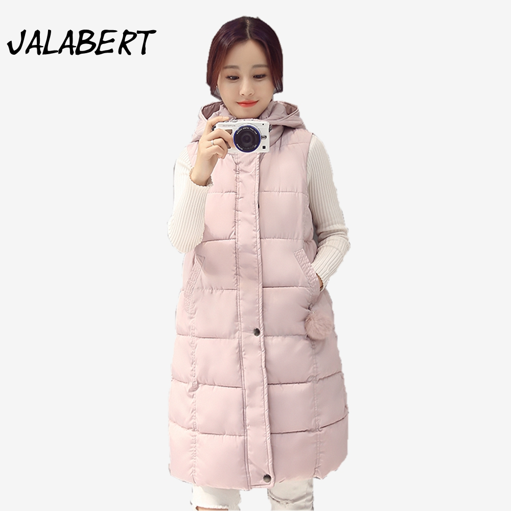 2017 New Autumn winter font b women b font long vests Slim Hairball cotton font b