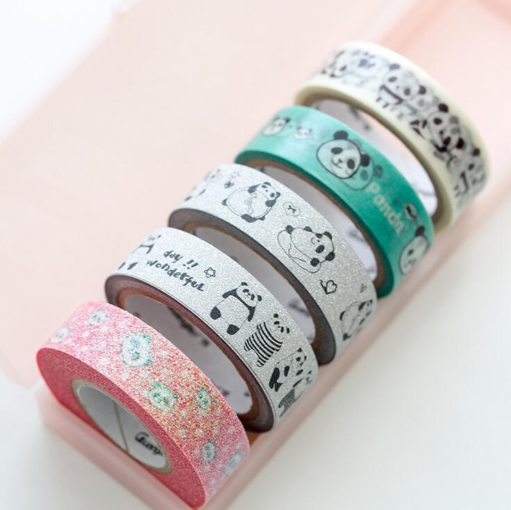 Lovely Panda Washi Tape Adhesive Tape DIY Scrapbooking Sticker Label Masking Tape happy fairytale theatre washi tape adhesive tape diy scrapbooking sticker label masking tape