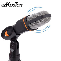 새로운 마이크 3.5 미리메터 오디오 전문 팟 캐스트 사운드 유선 스튜디오 데스크탑 마이크 PC 노트북 스카이프 MSN 노래 채팅