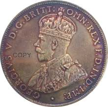 In australia 1 Un Florin Due Scellini George V 1935 Coronata Del Busto A Sinistra In Ottone Placcato Argento Copia Moneta Con Reeded Bordo(China)