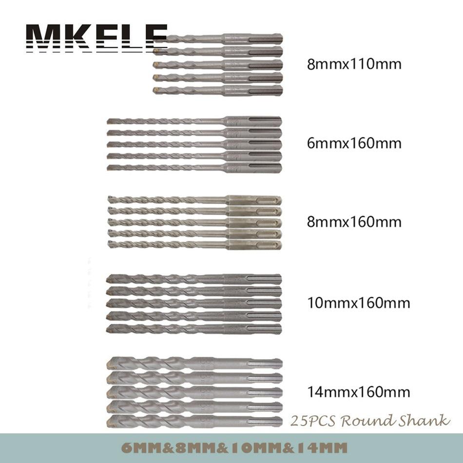 ФОТО Wood Drill Bit 25Pcs/Set Twist For Metal 40CR Chrome-vanadium Steel Drilling Woodworking 6/8/10/14mm Power Tools Herramientas