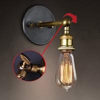 110V 220V Retro Vintage LED Edision Bedroom Wall Light Plated Iron Bathroom Wall Lamp Loft Wall