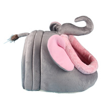 Can Unpick And Wash Cat Bed Grey Elephant Dog House