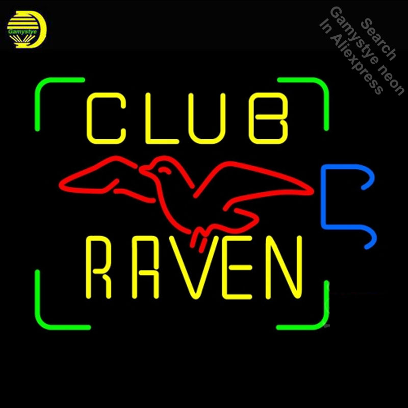 NEON SIGN For Club Raven Bird neon Light Sign Car Advertise Window for sale neon light Dropshipping retro neon LAMPS fluorescentNEON SIGN For Club Raven Bird neon Light Sign Car Advertise Window for sale neon light Dropshipping retro neon LAMPS fluorescent