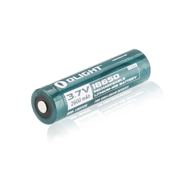 Olight ORB-186P26 2600mAh 18650 Protected Li-ion Rechargeable Battery
