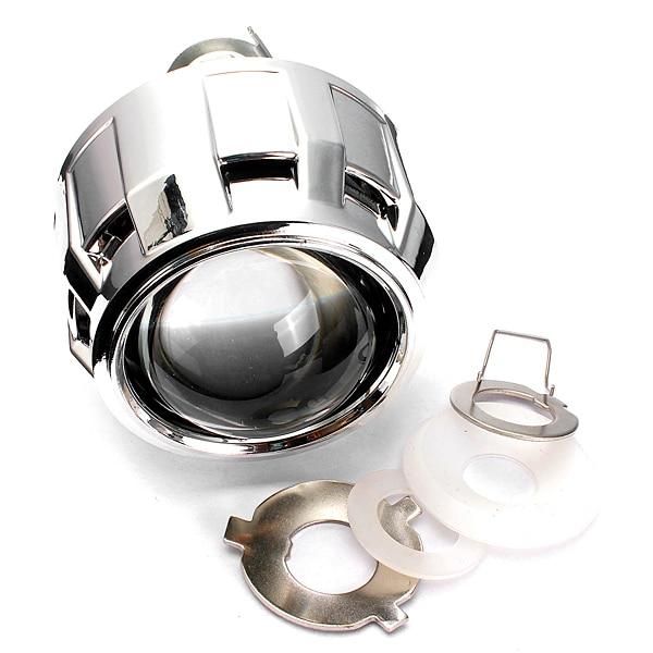 2.5 Inch RHD Car Motor Mini Bi-xenon/HID Projector Lens Angle Eye Halo Lens Kit Headlight Bulb Shroud