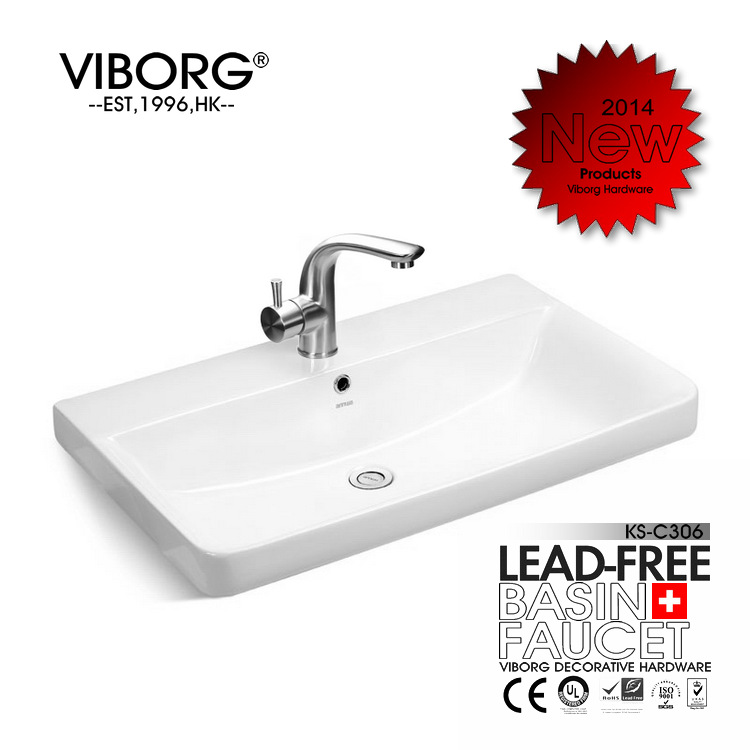 VIBORG Deluxe SUS304 Stainless Steel Casting Lead-free Bathroom Basin Faucet Vessel Sink Mixer Tap Faucet SATIN NICKEL BRUSHED
