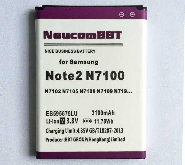 EB595675LU For Samsung GALAXY Note 2 Battery Note II N7100 N7105 N7102 T889 L900 N7108D Note2 GT-N7100 N7108D N7108 NeucomBBT