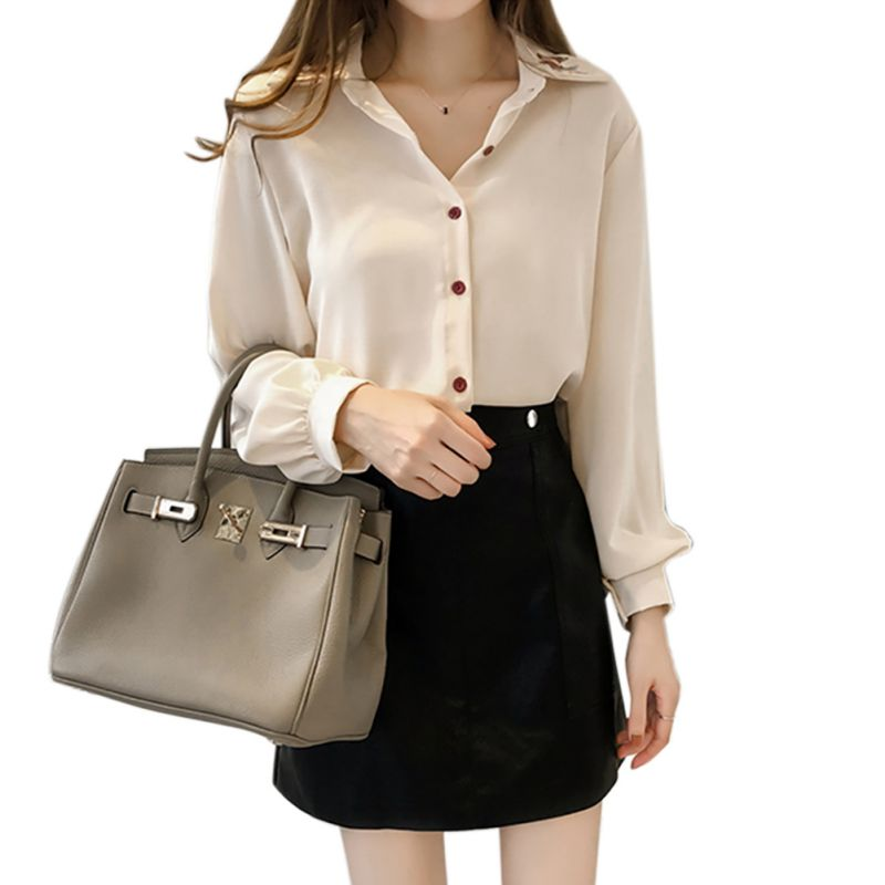 Cartoon Embroidery Shirt  Autumn New Fashion Women Blouse Long Sleeve Casual Tops Loose Shirt Blusas Feminina plus size