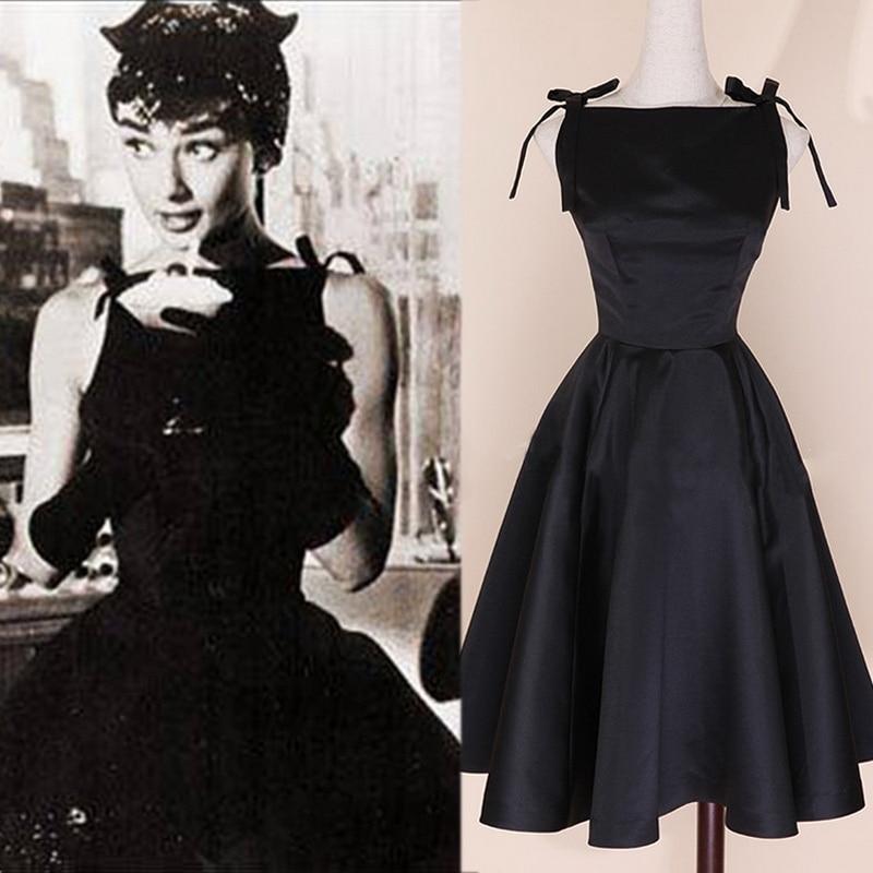 Compare Prices on Audrey Hepburn Vintage Dresses Little Black ...