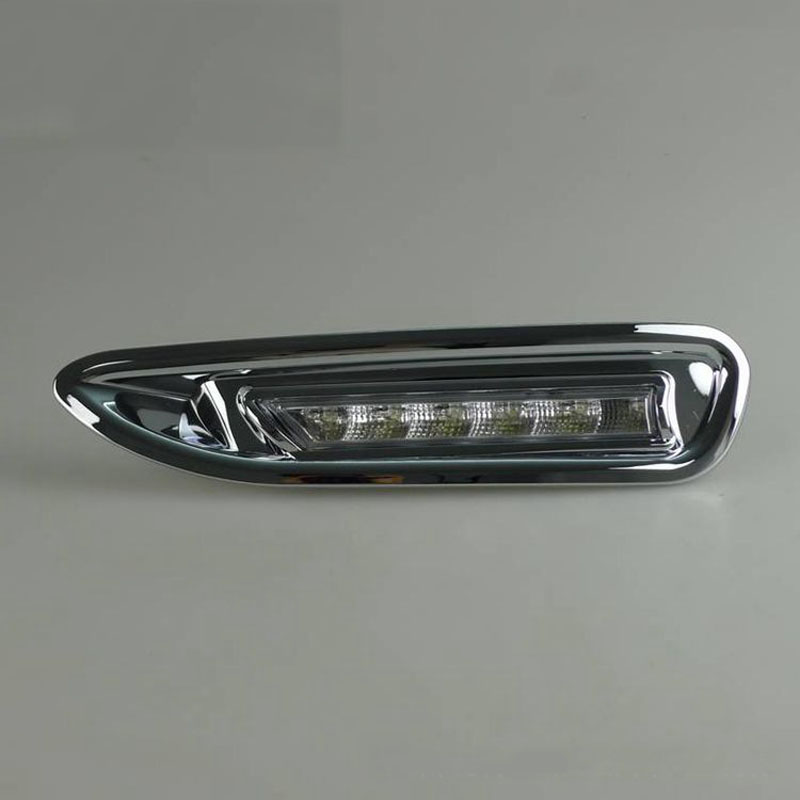 Dongzhen LED Car DRL LED Daytime Running Light Fog Lamp For Mazda 6 2008-2010 With Chrome Cover Relay Waterproof ABS 12V