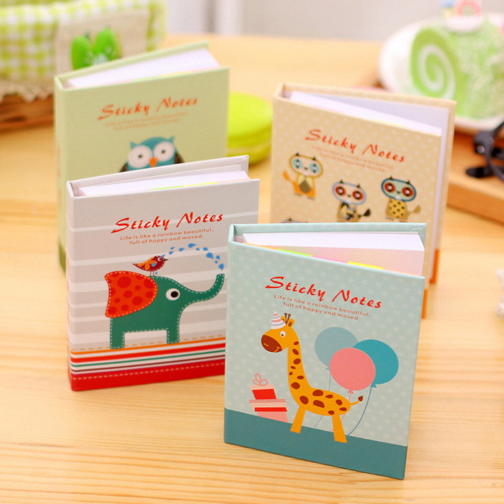 Student Cute Kawaii Cartoon Horse Dog Memo Pad Lovely Elephant Owl Post It Note Writing Pads School Supplies 2598 WJ-BJB-39/