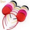 30pcs 16colors Baby Headbands,Gold/Silver Glitter Minnie Mouse Headband,Girls And Kids DIY Headbands Hair Bands Hair Accessories
