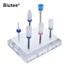 """Biutee 3/32"""" Ceramic Nail Drill Bits Set Coarse Medium Fine Grit"""