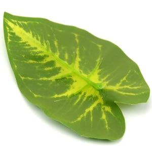 Image 5 - 1Bunch 28CM/48CM  Artificial Silk Green Scindapsus Aureus Leaf for Wedding Decorations Fake Bonsai Tree Plant  Accessories
