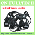 DHL Free ! 8Pieces/Set Truck Cables for TCS Scanner CDP Pro OBD2 Cable Truck Cable OBD Adaptor Connectors