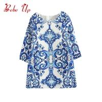 2016 Full Sleeve Kids Girls Baby Flower Floral Princess Bohemian Dress O Neck Print Children Clothing