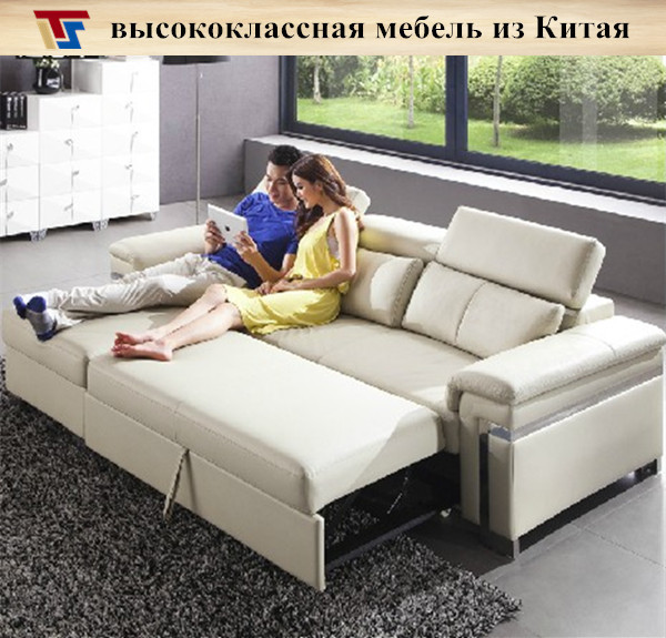 Attirant Real Leather Black Gray Brown Corner Sofa Bed Sleeper Couch Mechanism  Furniture Free Shipping To Russia