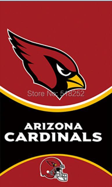 Arizona Cardinals Helmet Vertical Flag 3x5 FT 150X90CM NFL Banner 100D Polyester Custom flag grommets 6038,free shipping