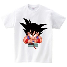 2019 Brand New Kids Dragon Ball Z Tshirt Children Goku Anime T-shirt Boy Summer Cartoon Tshirt Super Hero Saiyan Kids Clothes free shipping 2015 new summer brand teen boy solid polo shirt 12 13 14 15 years children patchwork tees kids tshirt 6c3050