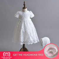 Newborn White Infant Girl Dress Princess Weddding Easter Baby Dress Birthday 1 2 Years Birthday Girl Long Baby Christening Dress
