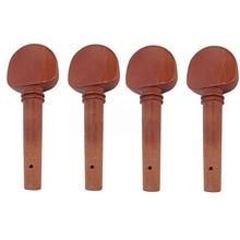 Wholesale 5X 4 x 4/4 Violin Jujube wood Pegs Light Brown