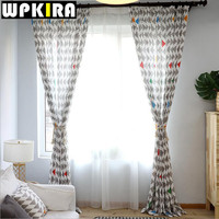 Modern Print Tulle Curtains For Living Room Window Voile Sheer Curtains Living Room Bedroom Curtains Floral