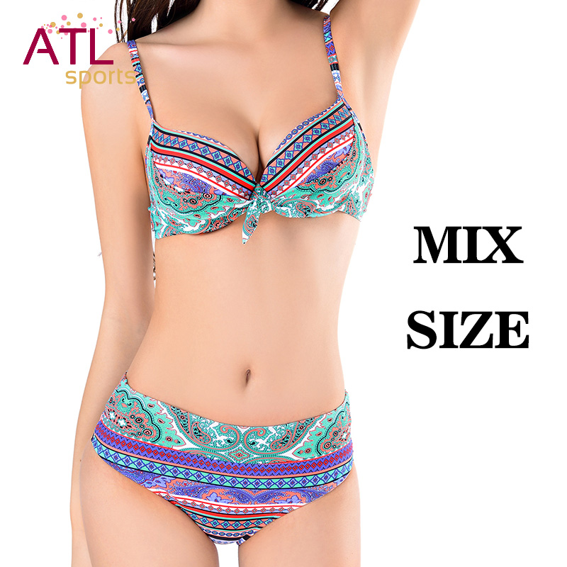 2019 Bowknot Sexy Bikinis Women Push Up Swimsuit Female Padded Miao Summer Plus Size Swimwear Bathing Suit Bathers Mayo Biquine
