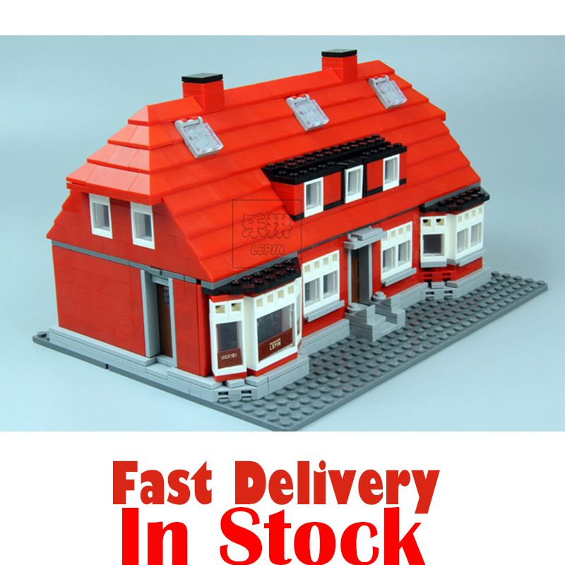 Lepin Creator Home 17006 928Pcs The Red House Set Model 4000007 Building Kits Blocks Bricks Educational toys For Children Gifts