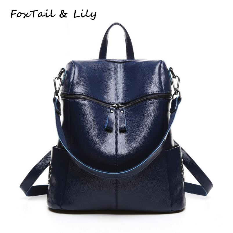 FoxTail & Lily Korean Style Fashion Rivet Backpack Women Genuine Leather Shoulder Bags Large Capacity School Backpacks for Girls 17 3 lcd screen panel 5d10f76132 for z70 80 1920 1080 edp laptop monitor display replacement ltn173hl01 free shipping