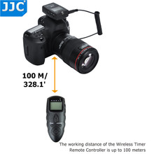 DSLR 100 M משדר 2.4 GHz 56 ChannelsRF JJC Wireless טיימר לניקון D7500/D7200/D5100/P7800/D5300/D5200/D5100