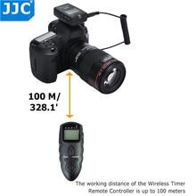 Jjc dslr 100 m 송신기 2.4 ghz 56 channelsrf 무선 타이머 원격 제어 니콘 d7500/d7200/d5100/p7800/d5300/d5200/d5100