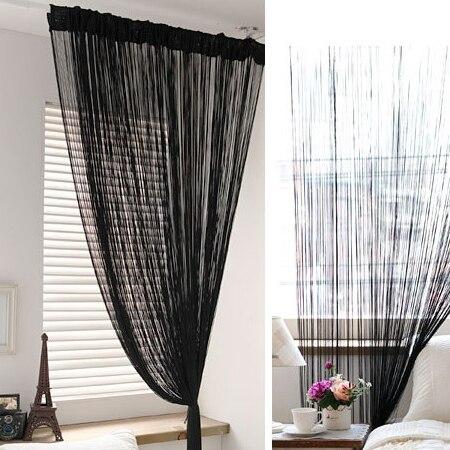 Aliexpress.com: Acheter Noir Chaîne rideau paravent fil rideau pour ...