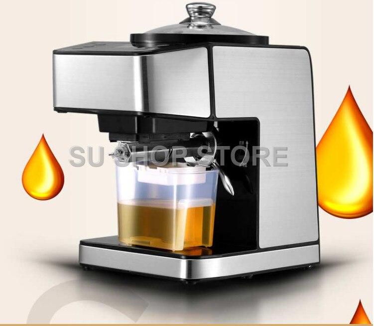 Machine de presse à huile d'acier inoxydable presseur d'huile automatique électrique extracteur d'huile de graine dispositif de pressage d'huile froide chaude 220 V - 4