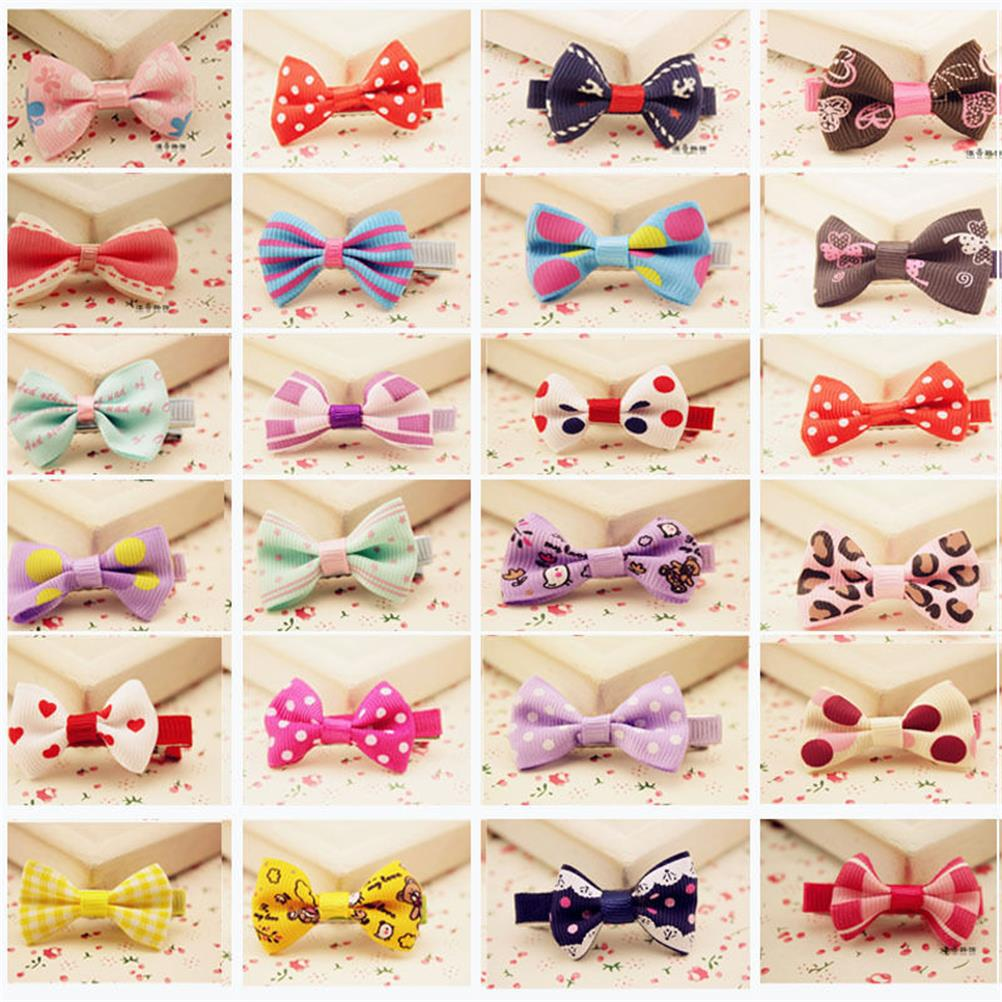10Pcs Hot Lovely Toddler Girl Hair Clip Ribbon Bow Baby Kids Bowknot Headband #