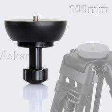 ASKAR 100mm Half Ball Flat to Bowl Adapter for Video Tripod Fluid Head DSLR Rig Camera Free Shipping
