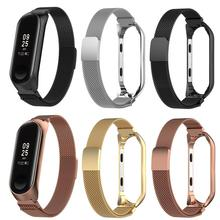 Magnetic Milanese Stainless Steel Watch Band Luxury Wrist Strap For Xiaomi4/3  MiBand 3 Smart Bracelet 4 strap