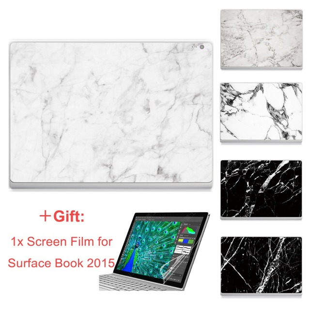 """Hot Sale For Micro Surface Book 13.5"""" Sticker Marble Painting Print Skin Laptop Top Vinyl Decal Front Full Sticker"""