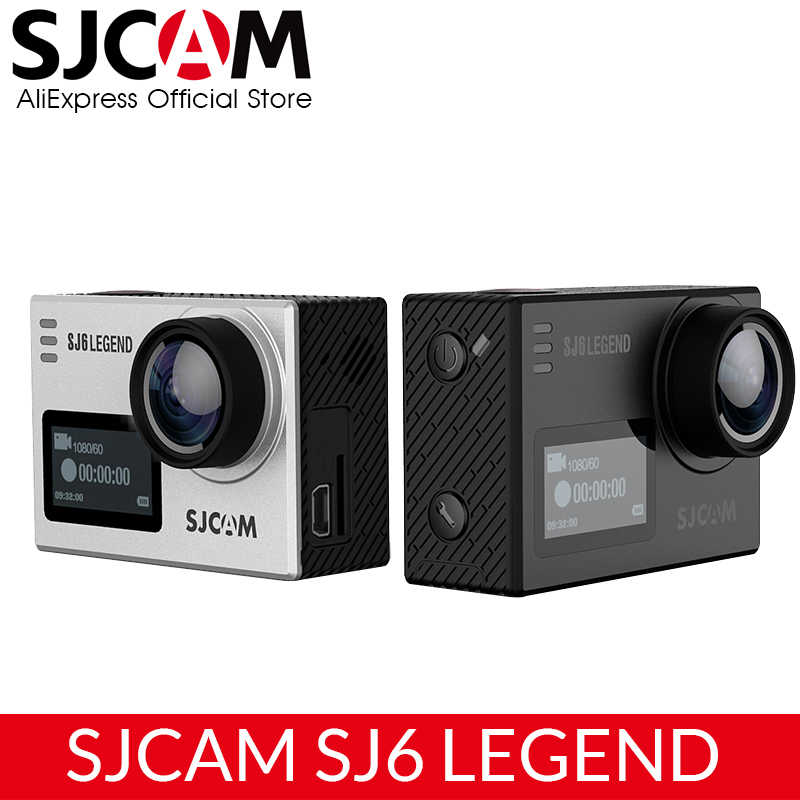 "SJCAM SJ6 Legenda 4K 24fps Ultra HD Notavek 96660 Tahan Air Action Camera 2.0 ""Layar Sentuh Remote Wifi Baku olahraga DV"