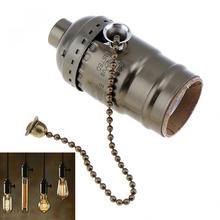 110-250V Retro Vintage lámpara Bases soporte bombilla con tornillo colgante para bombillas de tornillo